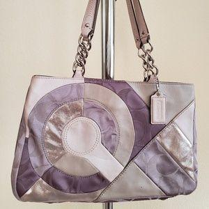 Coach Rare Inlaid Patchwork Tote Bag